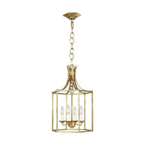 Bantry House-4 Light Small Outdoor Hanging Lantern in Uptown Chic Style-12.5 Inches Wide by 24.88 Inches Tall