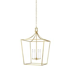 Southold by Chapman & Myers-Four Light Chandelier-24 Inches Wide by 36.5 Inches Tall