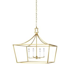 Southold by Chapman & Myers-Four Light Wide Chandelier-28 Inches Wide by 25.88 Inches Tall