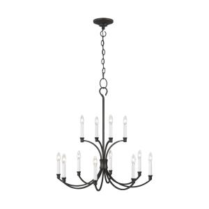 Westerly by Chapman & Myers-Twelve Light 2-Tier Chandelier-29.38 Inches Wide by 30 Inches Tall