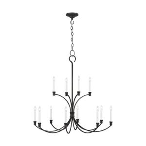 Westerly by Chapman & Myers-Twelve Light 2-Tier Chandelier-42 Inches Wide by 40 Inches Tall