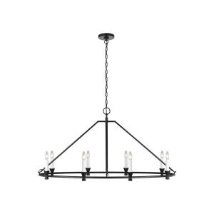 Keystone by Chapman & Myers-Eight Light Oval Chandelier in Modern Style-24.63 Inches Wide by 25 Inches Tall