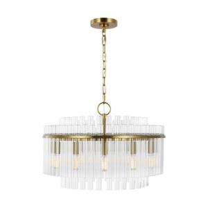 Beckett from C&M by Chapman & Myers-12 Light Medium Chandelier in Art Deco Style-24 Inches Wide by 16.25 Inches Tall