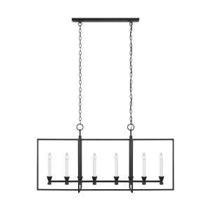 Keystone by Chapman & Myers - 6 Light Linear Chandelier