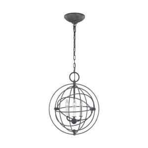 Bayberry-3 Light Small Pendant in Traditional Style-16 Inches Wide by 19.63 Inches Tall
