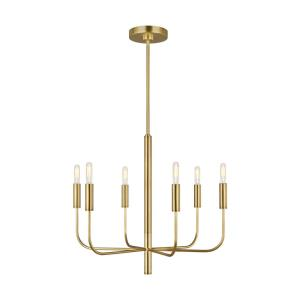 Brianna-6 Light Small Chandelier-24 Inches Wide by 21.38 Inches Tall