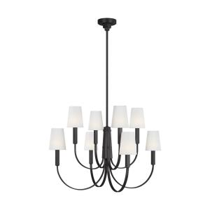 Logan from TOB Thomas O'Brien-Eight Light 2-Tier Chandelier-36.63 Inches Wide by 25.13 Inches Tall