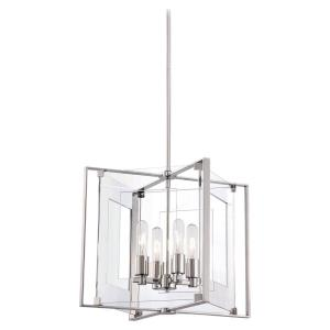 Crystal Clear-Four Light Pendant in Contemporary Style-14.75 Inches Wide by 15.5 Inches Tall