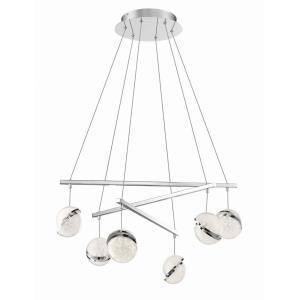 Silver Slice - 29.5 Inch 48W 6 LED Pendant