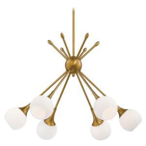 Pontil - Six Light Chandelier