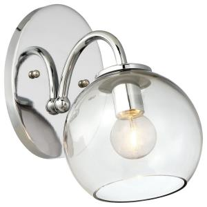 Exposed-One Light Bath Vanity in Contemporary Style-5.75 Inches Wide by 7.75 Inches Tall