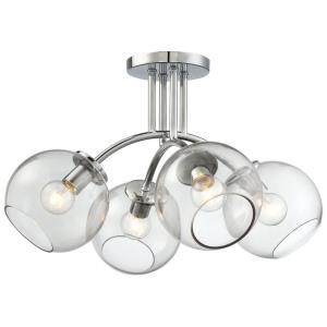 Exposed - Four Light Semi-Flush Mount