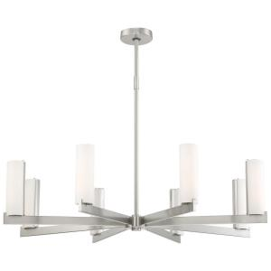 Tube - 38 Inch 88W 8 LED Chandelier