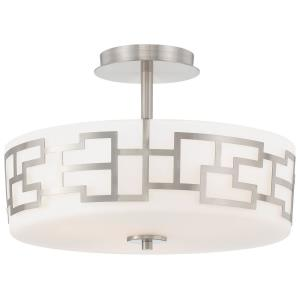 Alecia's Necklace - Three Light Semi-Flush Mount