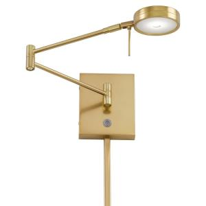George's Reading Room-8W 1 LED Swing Arm Wall Sconce in Contemporary Style-13.75 Inches Wide by 6.25 Inches Tall
