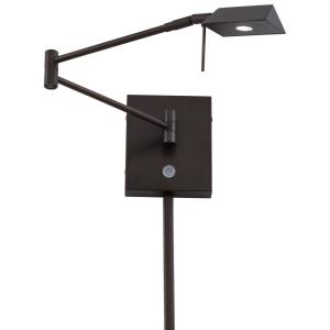 George's Reading Room-LED Swing Arm Wall Sconce in Contemporary Style-13.75 Inches Wide by 6.25 Inches Tall