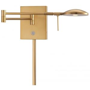 George's Reading Room-8W 1 LED Swing Arm Wall Sconce in Contemporary Style-14.75 Inches Wide by 6.25 Inches Tall