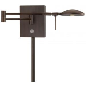 George's Reading Room - 14.75 Inch 8W 1 LED Swing Arm Wall Sconce