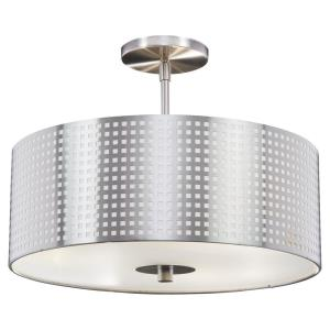 Grid - Three Light Semi-Flush Mount