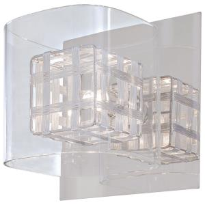 Jewel Box-One Light Bath Vanity in Contemporary Style-6.25 Inches Wide by 6.25 Inches Tall