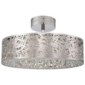 Hidden Gems - 18.25 Inch 40W 1 LED Semi-Flush Mount