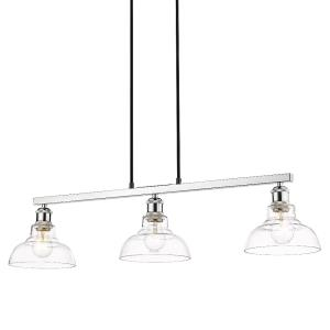 Carver - Linear Pendant in Sturdy style - 8.25 Inches high by 35.5 Inches wide
