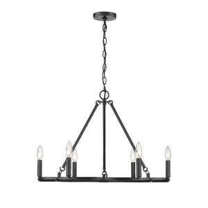 Celta Chandelier 6 Light  Steel