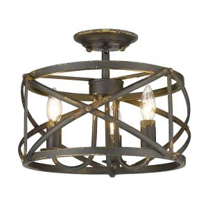 Alcott - 3 Light Semi-Flush Mount in Eclectic style - 11.13 Inches high by 13.5 Inches wide