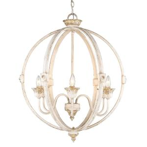 Jules Chandelier 6 Light  Steel