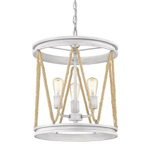 Chatham - 3 Light Caged Pendant with Rope