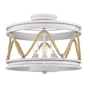 Chatham  3 Light Semi-Flush Celing  Steel