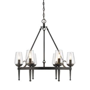 Marcellis - Chandelier 6 Light Steel in Rustic style - 26.5 Inches high by 26 Inches wide
