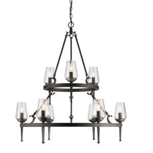 Marcellis - 2 Tier Chandelier 9 Light Steel in Rustic style - 37.25 Inches high by 34 Inches wide