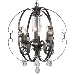 Ella Chandelier 6 Light  Steel