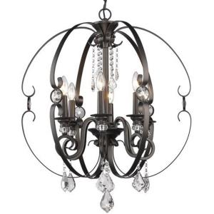 Ella - Chandelier 6 Light Steel in Contemporary style - 31.38 Inches high by 26 Inches wide