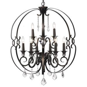 Ella Chandelier 9 Light  Steel