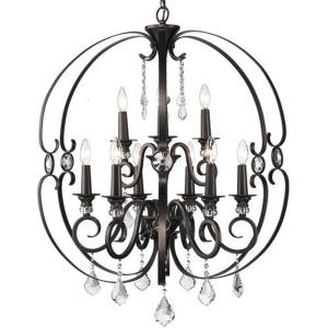 Ella - Chandelier 9 Light Steel in Contemporary style - 36.75 Inches high by 30 Inches wide
