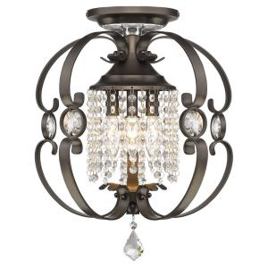 Ella - 3 Light Semi-Flush Mount
