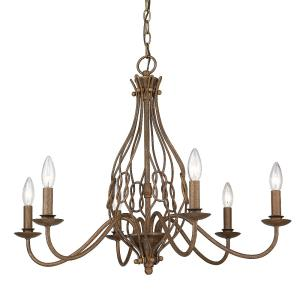 Antoinette - 6 Light Chandelier in Sturdy style - 22.38 Inches high by 28 Inches wide