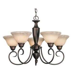 Centennial Chandelier 5 Light  Steel