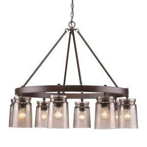 Travers Chandelier 8 Light  Steel
