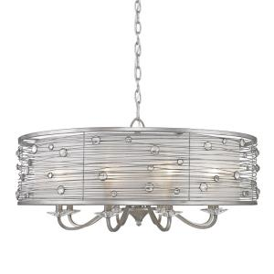 Joia Chandelier 8 Light  Steel Cloth
