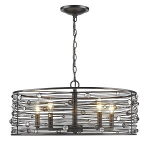 Bijoux Chandelier 5 Light  Steel