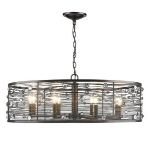 Bijoux Chandelier 8 Light  Steel