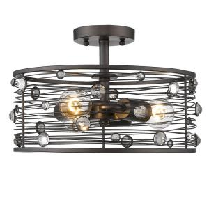 Bijoux - 3 Light Semi-Flush Mount