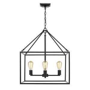 Wesson Chandelier 4 Light  Steel