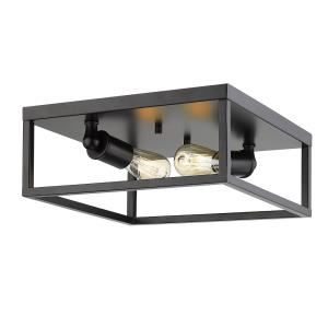 Wesson - 2 Light Flush Mount in Sturdy style - 5 Inches high by 12 Inches wide