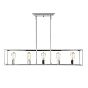 Wesson - 5 Light Linear Pendant in Sturdy style - 8.75 Inches high by 41 Inches wide