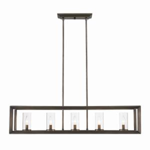 Smyth - 5 Light Linear Pendant in Contemporary style - 19.75 Inches high by 41 Inches wide