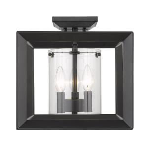 Smyth - 3 Light Semi-Flush Mount in Contemporary style - 12 Inches high by 12 Inches wide
